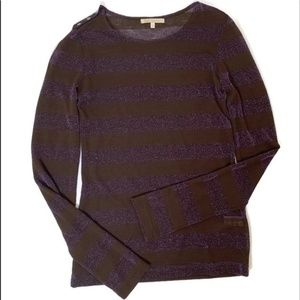 7 for all Mankind light striped metallic sweater